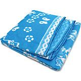 Байковое одеяло х/б 140х100 см., Топотушки, голубой