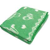 Байковое одеяло х/б 140х100 см., Топотушки, зеленый