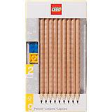 Набор карандашей с 2 насадками в форме кирпичика, 9 шт., LEGO
