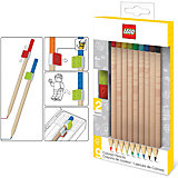 Набор цветных карандашей (9 шт.) с 2 насадками в форме кирпичика LEGO