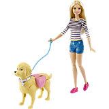 """Игровой набор """"Прогулка с питомцем"""", Barbie"""