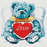 "Мозаика на подрамнике ""Медвежонок с сердцем"""