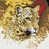"""Мозаика на подрамнике """"Портрет леопарда"""""""