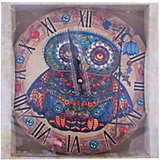 """Часы настенные """"Волшебная сова с рябиной"""", диаметр 34"""