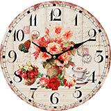 """Часы настенные """"Розы и кофе"""", диаметр 34 см"""