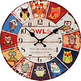 """Часы настенные """"День совы"""", диаметр 34 см"""
