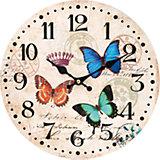"""Часы настенные """"Разноцветные бабочки"""", диаметр 34 см"""