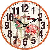 """Часы настенные """"Цветы и птичка"""", диаметр 34 см"""