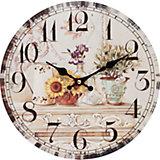 """Часы настенные """"Цветы и олива"""", диаметр 34 см"""
