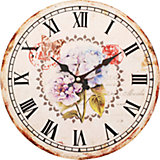 "Часы настенные ""Садовые цветы"", диаметр 34 см"