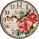 "Часы настенные ""Розовый куст"", диаметр 34 см"