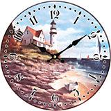 """Часы настенные """"На берегу моря"""", диаметр 34 см"""