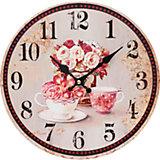 """Часы настенные """"Розы"""", диаметр 34 см"""