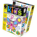 Аппликация для малышей №5 Крылатая барышня (бабочка)