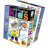 Аппликация для малышей №6 Удачная рабалка (кот)