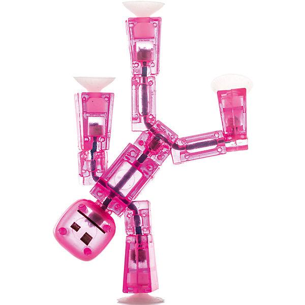 Игрушка-фигурка, розовая, Stikbot
