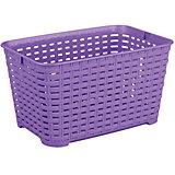 """Корзина """"Плетёнка"""" прямоугольная 3л.(без ручки), Alternativa, фиолетовый"""
