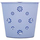"""Корзина для белья """"Плетёнка"""" (500х385х460), Alternativa, голубой"""