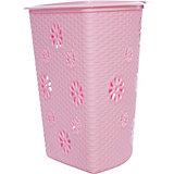"Корзина для белья ""Плетёнка"" (500х385х460), Alternativa, розовый"