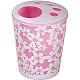 """Подставка """"Дольче Вита"""" для зубных щеток, Alternativa, розовый-белый"""