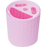 "Подставка ""Плетёнка"" для зубных щёток , Alternativa, розовый"