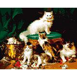 """Холст с красками по номерам """"Пушистые котята"""" 40х50 см"""