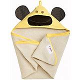 Полотенце с капюшоном Жёлтая обезьянка (Yellow Monkey), 3 Sprouts