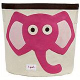 Корзина для хранения Слонёнок (Pink Elephant), 3 Sprouts, розовый