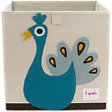 Коробка для хранения Павлин (Blue Peacock), 3 Sprouts