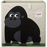 Коробка для хранения Горилла (Black Gorilla), 3 Sprouts