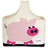 Сумочка для хранения детских принадлежностей Свинка (Pink Pig), 3 Sprouts
