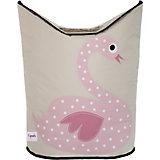 Корзина для белья Лебедь (Pink Swan), 3 Sprouts