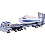"""Набор """"Камаз:  транспортер полиция с лодкой"""", Технопарк"""