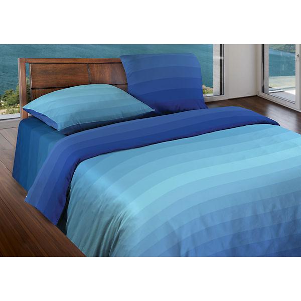 Постельное белье Евро  Flow Blue БИО Комфорт, Wenge Motion