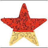 """Красное с золотым украшение """"Звезда"""" 11 см"""