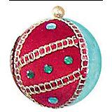 """Украшение шар """"Детская"""" флок, 9 см, красный и голубой"""