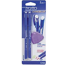 """Шариковая ручка """"пиши-стирай"""" 2 шт в блистере + дополнительный ластик, цвет синий."""