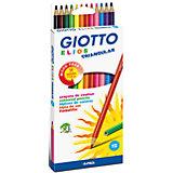 Полимерные цветные карандаши, 12 шт.