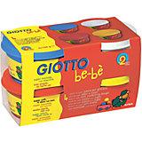 Мягкая паста для моделирования, 4шт х 100 г, красный, синий, белый, желтый.