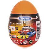 """Модель машины 1:60 """"Яйцо-сюрприз"""", оранжевая, Welly"""