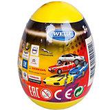 """Модель машины 1:60 """"Яйцо-сюрприз"""", жёлтая, Welly"""