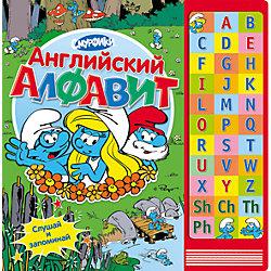 """Книга с музыкальным модулем """"Английский алфавит"""", Смурфики"""