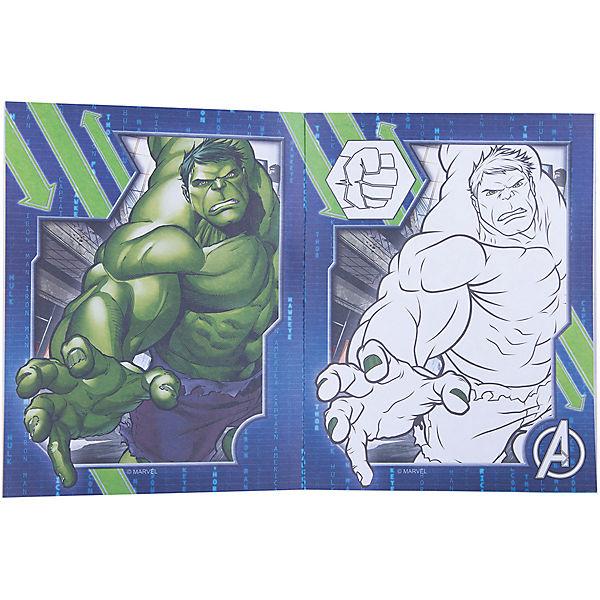 Наклейки и раскраски (синяя), Мстители