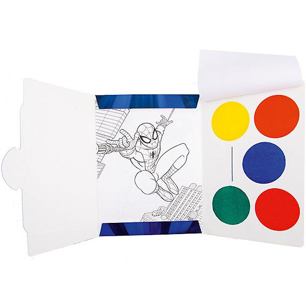 "Раскраска с красками ""Человек-паук"""