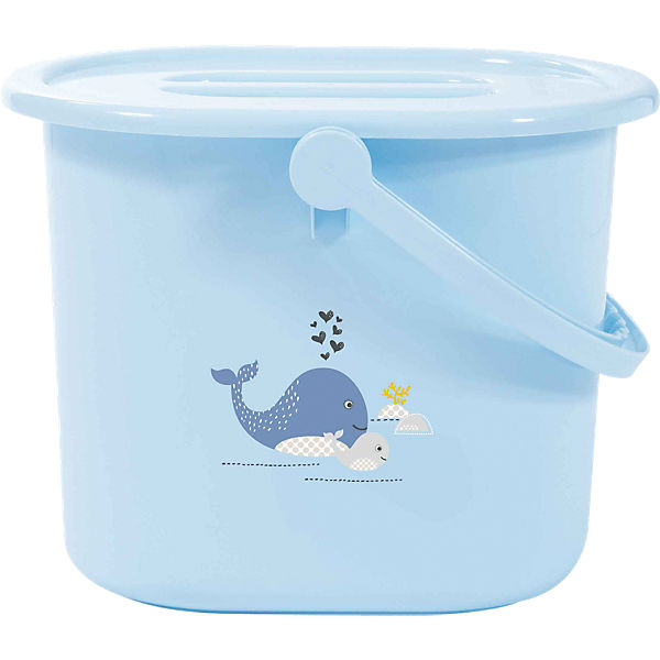 Windeleimer Wally Whale, blau