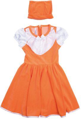 Нарядное платье для девочки PlayToday - оранжевый