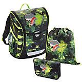 Ранец с наполнением Green Dino, 3 предмета