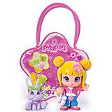 Кукла Пинипон со светлыми волосами с кроликом в сумочке, Famosa