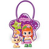 Кукла Пинипон с оранжевыми волосами с кошечкой в сумочке, Famosa