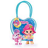 Кукла Пинипон с розовыми волосами с собачкой в сумочке, Famosa